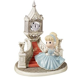 Precious Moments - Disney Ltd Ed Cinderella Running Down Steps With Glass Slipper