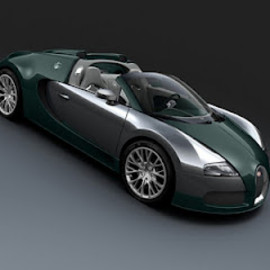 Bugatti - Veyron Grand Sport 16.4 Special Edition green/silver version, 2012