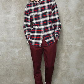 Urban Outfitters, Dickies - Maroon Collville Slim Trousers