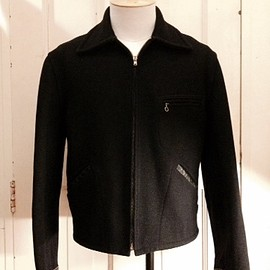 VINTAGE - 50's WOOL SPORTS JKT(PATCHED ELBOW&SLEEVE CUFF)