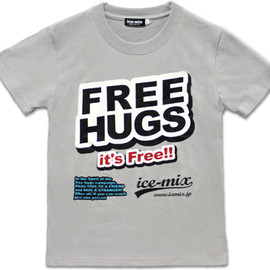 ice-mix - FREE HUGS Tシャツ