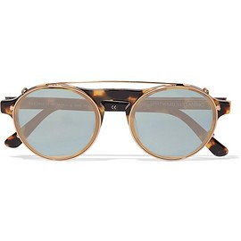 Westward Leaning - Dyad 6 aviator-style acetate and gold-tone sunglasses