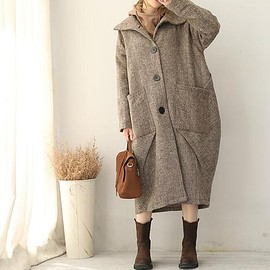 Wool Loose Fitting maxi overcoat, Women Clothing, Wool Winter Coat, Wool Jacket for Women