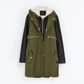ZARA - FAUX LEATHER PARKA