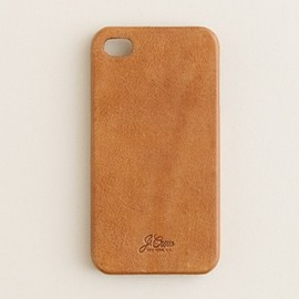 J.CREW - Leather iPhone 4 case