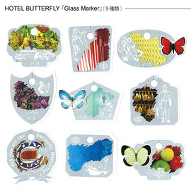 HOTEL BUTTERFLY - グラスマーカー「HOTEL BUTTERFLY」