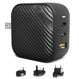 Mopoint - Mopoint 65W GaN USB-C Charger World's Smallest with EU/UK/AU Plug Adapters