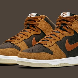 NIKE - Dunk High PRM - Velvet Brown/Dark Russet/Dark Curry/Sail