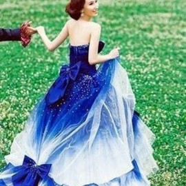 BLUE: wedding dress
