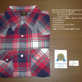 JOURNAL STANDARD - Red Check Lee別注 Flannel Western Shirts