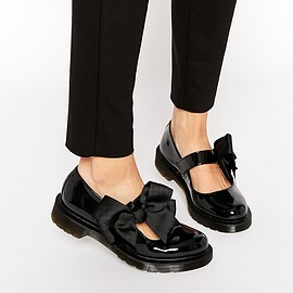 Dr.Martens - Image 1 ofDr Martens Mariel Bow Mary Jane Patent Flat Shoes
