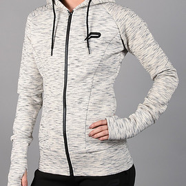 Pursue Fitness - Iconic Full-Zip Jacket - Slub Grey
