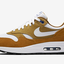 NIKE - Air Max 1 - Dark Curry/Sport Blue/Black/True White