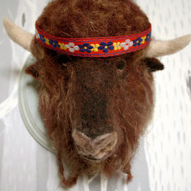 Stacie013 - Needle Felted Bison Taxidermy