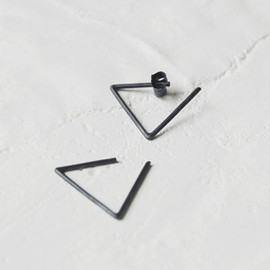 Ag.Jc - Oxidized silver geometrics hoop circle earrings #24