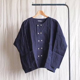 jujudhau - Double Button Shirt #linen chambray