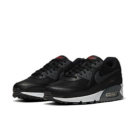 NIKE - Air Max 90 - Black/Dark Grey/White/University Red?