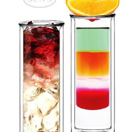 Sun's Tea - Strong Double Wall Thermo Tall Glass Tumbler
