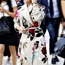 VALENTINO - floral trench coat