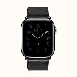 Hermès Space Black Stainless Steel Case with Double Tour
