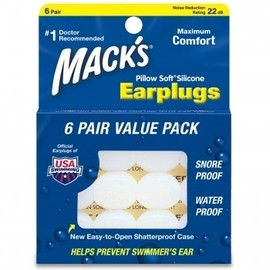 MACK'S Pillow Soft - Earplugs 6PAIR VALUE PACK