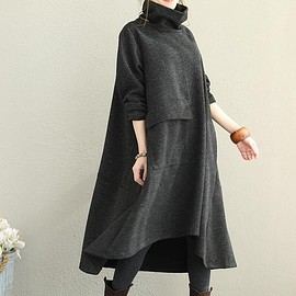 Cotton linen robes, Maternity Clothing, Winter gown