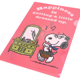 SNOOPY - SNOOPY(スヌーピー)Belleクリアファイル【新品】PINK290-001806-013+