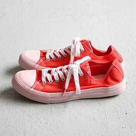 COMME des GARCONS HOMME - SNEAKER #red/garment dyed