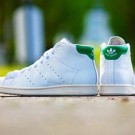 adidas originals - ADIDAS ORIGINALS STAN SMITH MID RUNNING WHITE/GREEN/CHALK WHITE