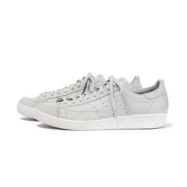 White Mountaineering, adidas - WM x adidas Originals NASTASE MASTER VINTAGE LEATHER SNEAKERS ( Light Gray )