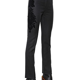 GIVENCHY - FW2015 DAMASK WOOL TWILL PANTS
