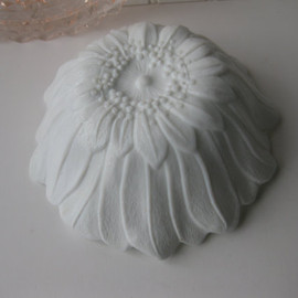 Vintage Milk Glass Floral Bowl