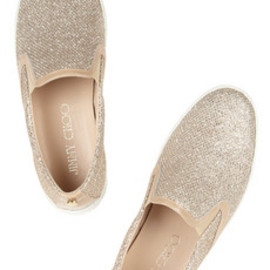 Demi glittered canvas sneakers - Jimmy Choo