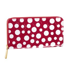 LOUIS VUITTON - Yayoi Kusama 草間彌生 Louis Vuitton Zippy Wallet Monogram Vernis Dots Infinity red