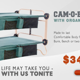 Disc-O-Bed - Cam-O-Bunk XL with Organizers