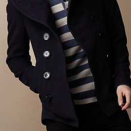 Burberry Brit - OVERSIZE LAPEL PEA COAT