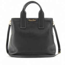 miu miu - Miu Miu TEXTURED LEATHER SHOPPER