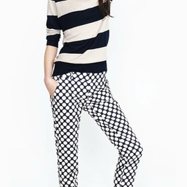 J.CREW - stripe and polka dot style