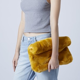 TOPSHOP - Faux Fur Clutch bag