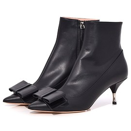 Rochas - Ankle Boot with Bow in Black