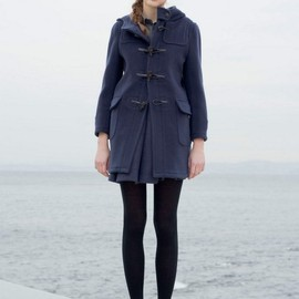 beautiful people - wool back check dufful coat
