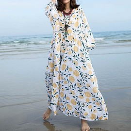 dress a dress - Cotton Dresses, Oversized Loose Fitting Dresses, Long Maxi Dress, pullover Dresses
