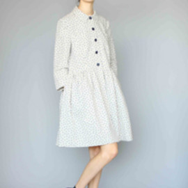 KAREN WALKER -  Linen Dot Dress Coat
