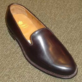 ALDEN - CORDOVAN  PLAIN TOE LOAFER