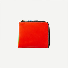 COMME DES GARCONS - CDG WALLET SUPER FLUO LINE GREEN/ORANGE