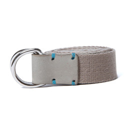 hobo - Double Ring Tape Belt with Shade Leather