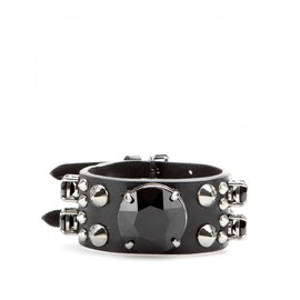 miu miu - EMBELLISHED LEATHER BRACELET