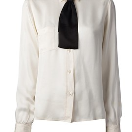 CHANEL, VINTAGE - vintage shirt with bow tie