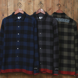 GOODENOUGH - BUFFALO LINE FLANNEL BOX SHIRT