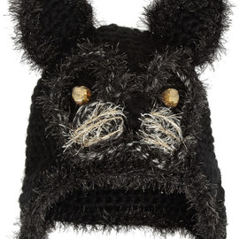 ANNA SUI - Embellished crochet-knit cat hat